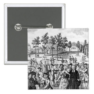 Laurence Sterne Pin Cuadrado