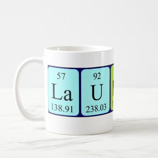 Laurette periodic table name mug