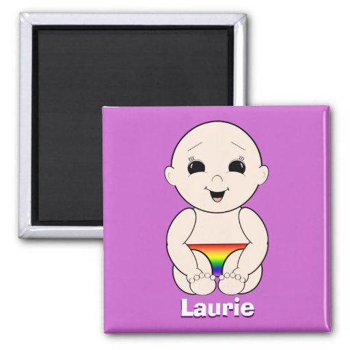 Laurie GLBT 3r Imán Cuadrado