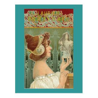 Laurier Art Nouveau Postcard