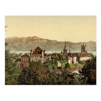 Lausanne, general view, with Savoy Alps, Geneva La Postcards