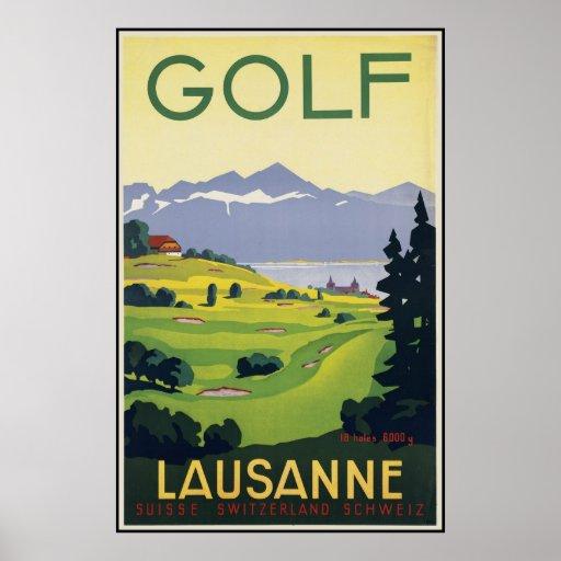 Lausanne Golf Print