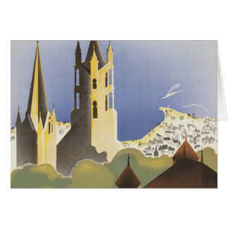Lausanne Ouchy Switzerland Vintage Europe Card