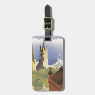 Lausanne Ouchy Switzerland Vintage Europe Luggage Tag