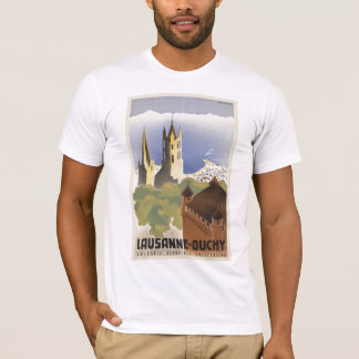 Lausanne Ouchy Switzerland Vintage Europe T-Shirt