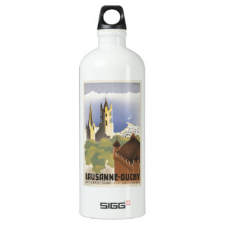 Lausanne Ouchy Switzerland Vintage Europe Water Bottle