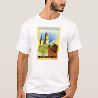Lausanne ~ Ouchy ~ Vintage Swiss Travel T-Shirt