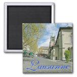Lausanne, Switzerland Square Magnet