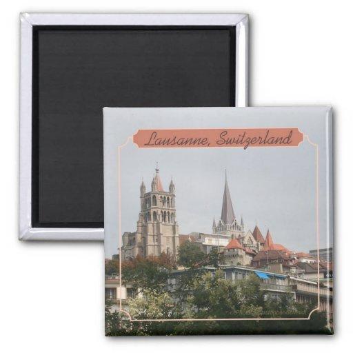 Lausanne Switzerland Travel Photo Souvenir Magnet