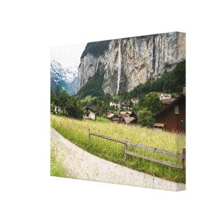 lauterbrunnen el valle, Suiza - lona envuelta Impresión En Lona Estirada