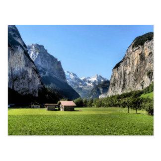 Lauterbrunnen glacial valley post card
