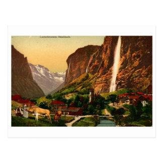 Lauterbrunnen Staubbach Waterfall Switzerland Post Card