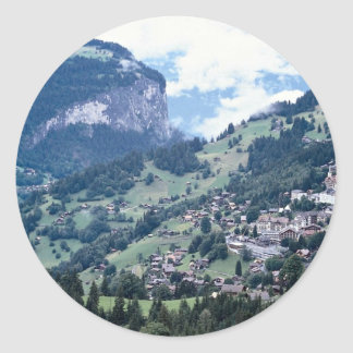 Lauterbrunnen, Suiza Pegatina Redonda