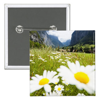 Lauterbrunnen, Suiza Pin Cuadrado