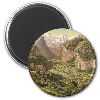 Lauterbrunnen Valley and Briethorn, from Wengen, B Magnets