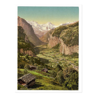 Lauterbrunnen Valley and Briethorn, from Wengen, B Post Cards