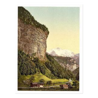Lauterbrunnen Valley and Jungfrau, Bernese Oberlan Post Card