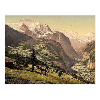 Lauterbrunnen Valley and Wengen, Bernese Oberland, Post Card