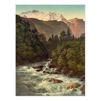 Lauterbrunnen Valley, Jungfrau and White Lutschine Postcards