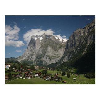 Lauterbrunnen valley post card