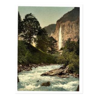 Lauterbrunnen Valley, Staubbach and White Lutschin Post Cards