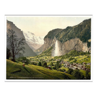 Lauterbrunnen Valley with Staubbach, Bernese Oberl Post Cards