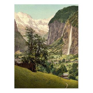 Lauterbrunnen Valley with Staubbach Waterfall, Ber Postcards