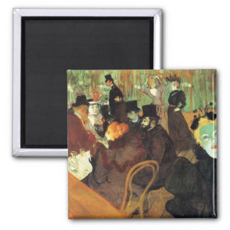 Lautrec: At the Rouge 2 Inch Square Magnet