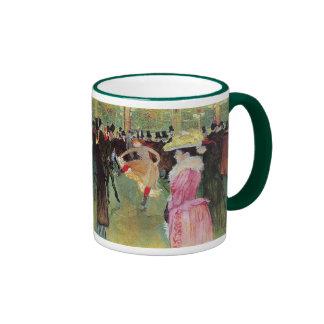 Lautrec - danza en el colorete taza de dos colores