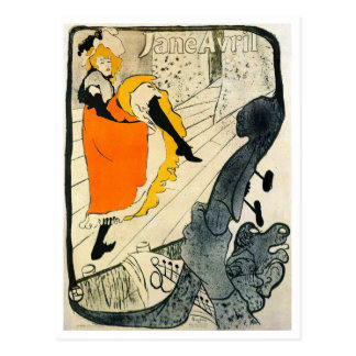 Lautrec: El baile de Jane Avril Poder-Puede Tarjeta Postal