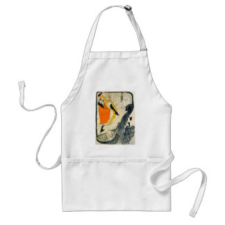 Lautrec: Jane Avril Dancing the Can-Can Adult Apron