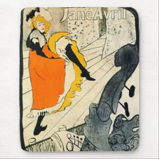 Lautrec: Jane Avril Dancing the Can-Can Mousepads