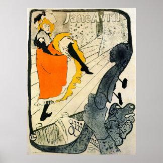 Lautrec: Jane Avril Danicng Poder-Puede Impresiones