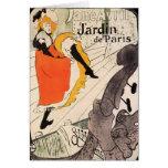 Lautrec: Jane Avril, Jardin de Paris Greeting Card