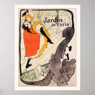 Lautrec: Jane Avril, Jardin de París Poster