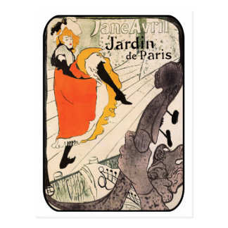 Lautrec: Jane Avril, Jardin de Paris Postcard