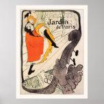 Lautrec: Jane Avril, Jardin de París Póster