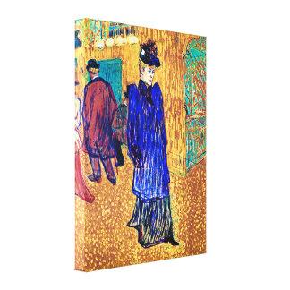 Lautrec - Jane Avril Leaves the Rouge Canvas Print