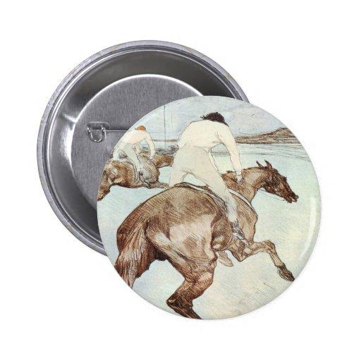 Lautrec_The_Jockey 2 Inch Round Button