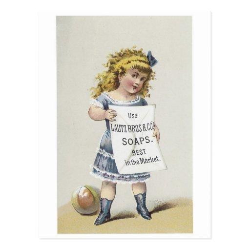 Lautz Bros Soaps - Little Blonde Girl Postcard