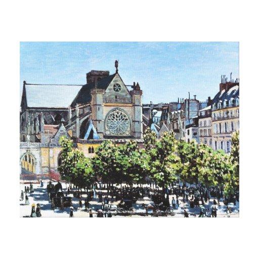 l'Auxerrois Claude Monet de Germán del santo Impresiones En Lienzo Estiradas