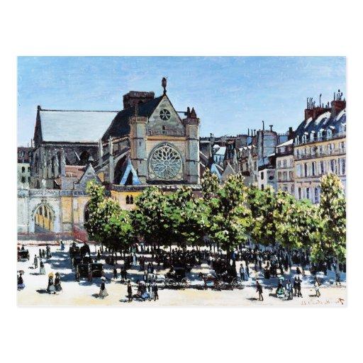 l'Auxerrois Claude Monet de Germán del santo Postales