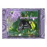 Lav-Bfly Secret Sister- customize Card