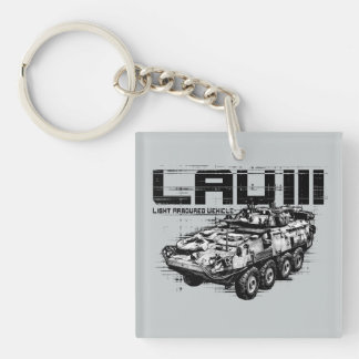 LAV III  Square (double-sided) Keychain