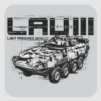 LAV III  Square Stickers