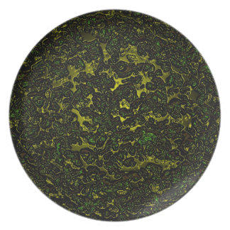 Lava abstract shining texture party plate