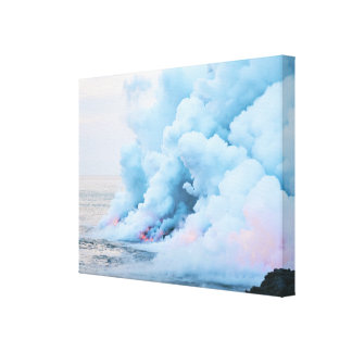 Lava and Steam in the Day Time Canvas Print