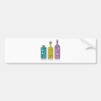 Lava Bottles. improvised Lamps Bumper Sticker