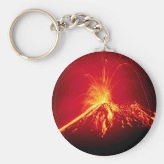 Lava caliente del volcán Costa Rica 1991 Llavero