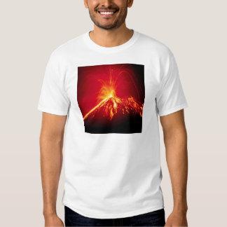 Lava caliente del volcán Costa Rica 1991 Playera
